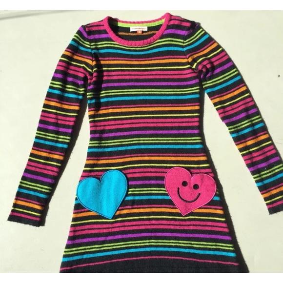 21b93b0cd68 little miss match Other - Little miss matched Neon Sweater Dress Size 8